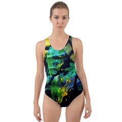 Rumba On A Chad Lake 10 Cut Out Back One Piece Swimsuit