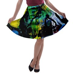 Rumba On A Chad Lake 10 A Line Skater Skirt