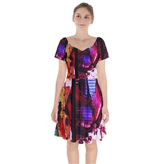 Absurd Theater In And Out 4 Short Sleeve Bardot Dress