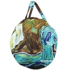 Horsey Toy Giant Round Zipper Tote