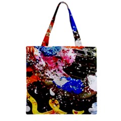 Smashed Butterfly 5 Zipper Grocery Tote Bag