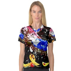 Smashed Butterfly 5 V Neck Sport Mesh Tee