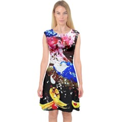 Smashed Butterfly 5 Capsleeve Midi Dress