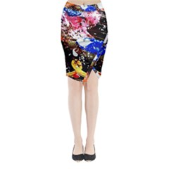Smashed Butterfly 5 Midi Wrap Pencil Skirt