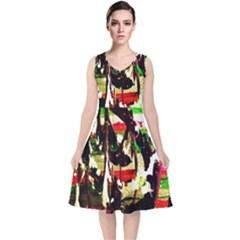 Easter1/1 V Neck Midi Sleeveless Dress
