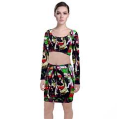 Easter1/1 Long Sleeve Crop Top & Bodycon Skirt Set