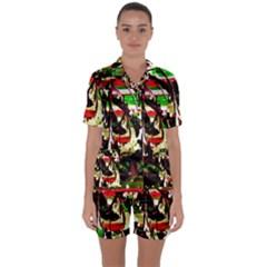 Easter1/1 Satin Short Sleeve Pyjamas Set