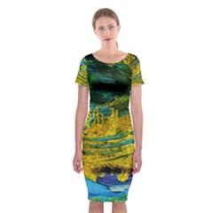 One Minute Egg 4 Classic Short Sleeve Midi Dress