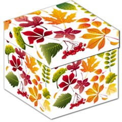 Beautiful Autumn Leaves Vector Storage Stool 12