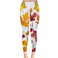Beautiful Autumn Leaves Vector Leggings