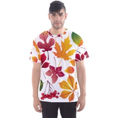 Beautiful Autumn Leaves Vector Men s Sports Mesh Tee