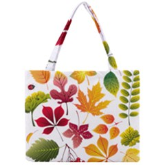 Beautiful Autumn Leaves Vector Mini Tote Bag
