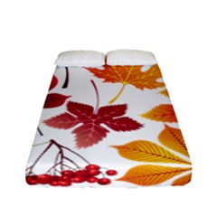 Beautiful Autumn Leaves Vector Fitted Sheet (full/ Double Size)