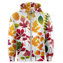 Beautiful Autumn Leaves Vector Men s Zipper Hoodie