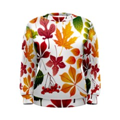 Beautiful Autumn Leaves Vector Women s Sweatshirt