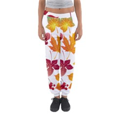 Beautiful Autumn Leaves Vector Women s Jogger Sweatpants