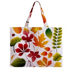 Beautiful Autumn Leaves Vector Zipper Mini Tote Bag