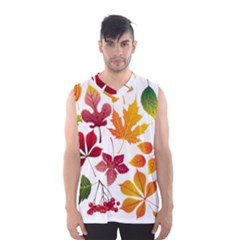 Beautiful Autumn Leaves Vector Men s Basketball Tank Top