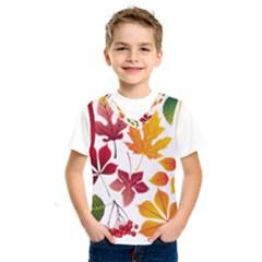 Beautiful Autumn Leaves Vector Kids  Sportswear