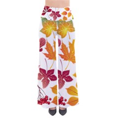 Beautiful Autumn Leaves Vector So Vintage Palazzo Pants