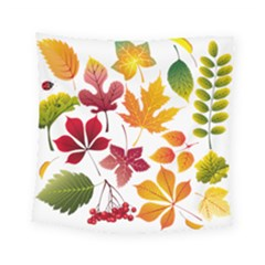Beautiful Autumn Leaves Vector Square Tapestry (small)
