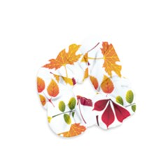 Beautiful Autumn Leaves Vector Velvet Scrunchie