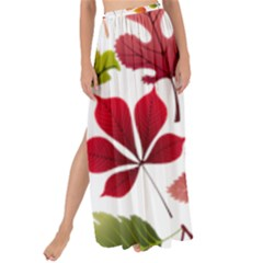 Beautiful Autumn Leaves Vector Maxi Chiffon Tie Up Sarong