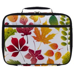 Beautiful Autumn Leaves Vector Full Print Lunch Bag