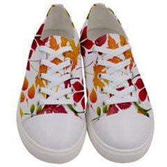Beautiful Autumn Leaves Vector Women s Low Top Canvas Sneakers