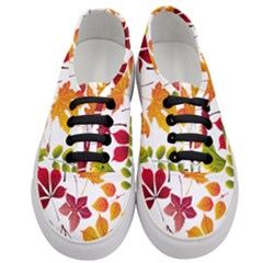Beautiful Autumn Leaves Vector Women s Classic Low Top Sneakers