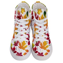 Beautiful Autumn Leaves Vector Women s Hi Top Skate Sneakers