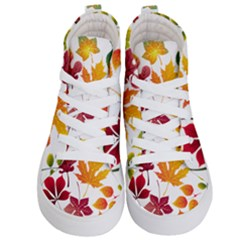 Beautiful Autumn Leaves Vector Kid s Hi Top Skate Sneakers