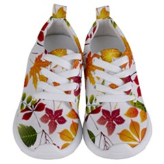 Beautiful Autumn Leaves Vector Kids  Lightweight Sports Shoes
