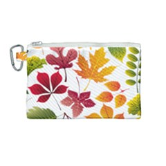 Beautiful Autumn Leaves Vector Canvas Cosmetic Bag (medium)