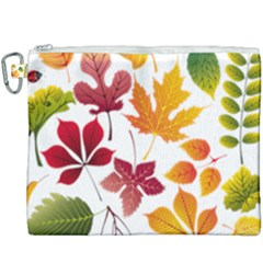 Beautiful Autumn Leaves Vector Canvas Cosmetic Bag (xxxl)