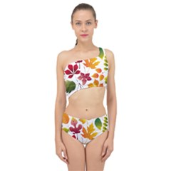 Beautiful Autumn Leaves Vector Spliced Up Swimsuit