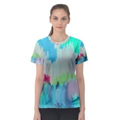 Abstract Background Women s Sport Mesh Tee