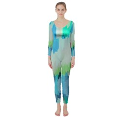 Abstract Background Long Sleeve Catsuit
