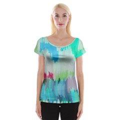 Abstract Background Cap Sleeve Tops