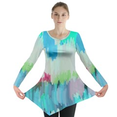 Abstract Background Long Sleeve Tunic
