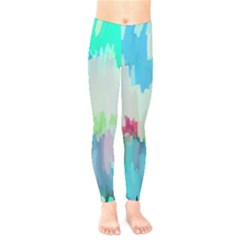 Abstract Background Kids  Legging by Modern2018