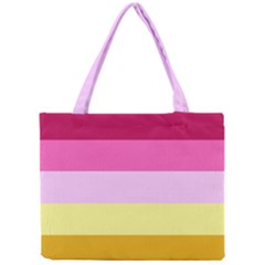 Red Orange Yellow Pink Sunny Color Combo Striped Pattern Stripes Mini Tote Bag