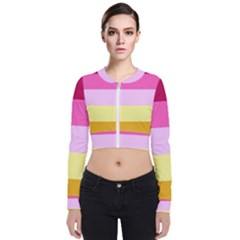 Red Orange Yellow Pink Sunny Color Combo Striped Pattern Stripes Bomber Jacket