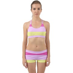 Red Orange Yellow Pink Sunny Color Combo Striped Pattern Stripes Back Web Gym Set
