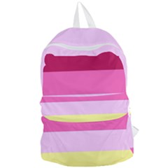 Red Orange Yellow Pink Sunny Color Combo Striped Pattern Stripes Foldable Lightweight Backpack