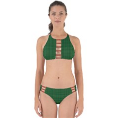 Irish Tartan Style Plaid Perfectly Cut Out Bikini Set