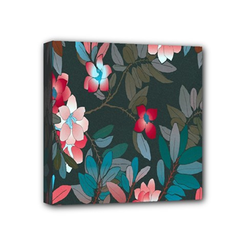 Floral Pattern Mini Canvas 4  X 4