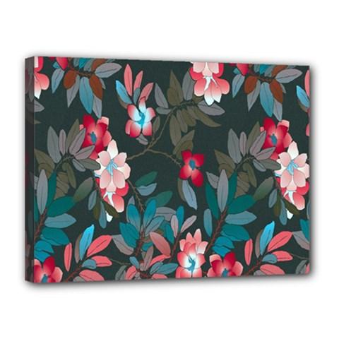 Floral Pattern Canvas 16  X 12