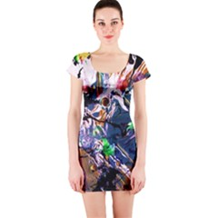 Jealousy   Battle Of Insects 6 Short Sleeve Bodycon Dress