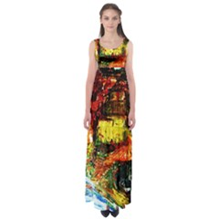 St Barbara Resort Empire Waist Maxi Dress